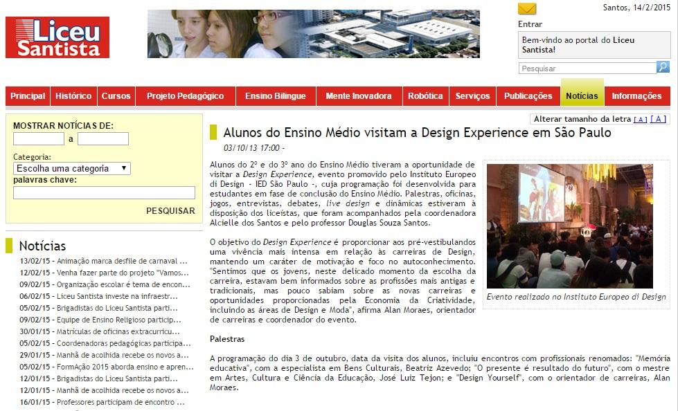 liceu santista - design experience out13